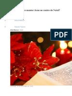 Como podemos manter Jesus no centro do Natal