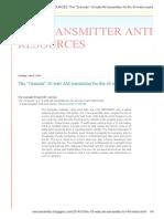 AM TRANSMITTER ANTENNA RESOURCES_ the _Grenade_ 10 Watt AM Transmitter for the 40 Meter Band