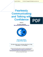 Fearlessly Communicating and Talking With Confidence