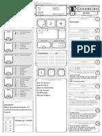 DnD 5e - Ficha - Guerreiro - Editável