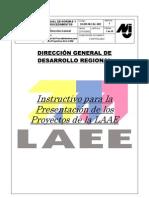 Instructivo para Presentación de los Proyectos de LAEE