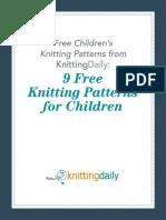9 Free Knitting Patterns for Children