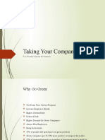 Taking Your Company Green