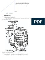 Jeep relays fuses & PDC