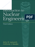 Introduction to Nuclear Engineering - John R.Lamarsh and Anthony J. Baratta