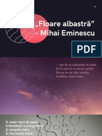 """Mihai Eminescu """"Floare albastră"""""""
