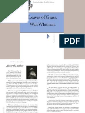 whitman-leavesofgrass | Walt Whitman | Leaves Of Grass