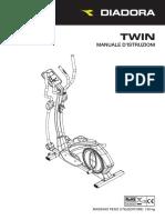 [Italiano] Manuale Ellittica Diadora Twin (1)