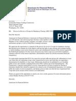 AFR CFTC Letter on Rev of Swaps