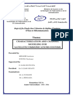 Characterization and channel modeling for satellite - MEDJAHED & SICHONA