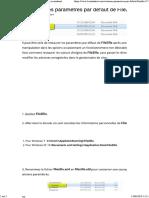 Restaurer les paramètres par défaut de FileZilla