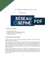 Projet Obépine - Rapport de résultats semaine 4 - Lens