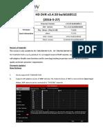 Turbo HD DVR V3.4.50Build160516 Release Notes_External