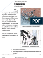 Bicycle suspension - Wikipedia, the free encyclopedia