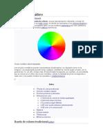 Círculo cromático y propiedades del color
