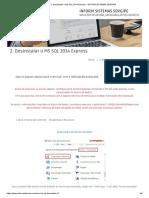 2. Desinstalar o MS SQL 2014 Express – INFORM SISTEMAS SERGIPE