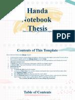 Handa Notebook Thesis by Slidesgo