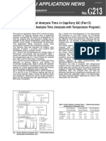 Reduction of Analysis Time in Capillary GC (Part 5) Factors Related to Analysis Time (Analysis with Temperature Program). Application note (Shimadzu)