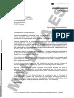 Comunicación de España a la Comisión Europea preguntando si se podía bajar el IVA de las mascarillas