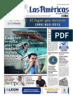Portada de Diario Las Américas Viernes 5 de febrero