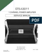 Jbl Gt5-A3011 Car Power Amplifier Sm
