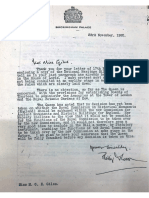 Letter From Palace, Memo to Mr Woodhouse and Memo of Meeting