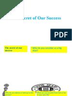 6The Secret of Our Success Popsheet