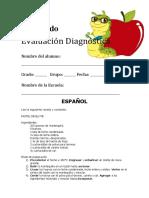 Evaluaciòn diagnóstica para 5º grado