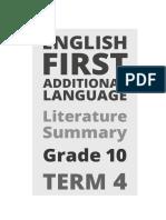 Gr 10 Term 4 2019 Efal Literature Summary