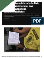 O lado B do trabalho social dos evangélicos fundamentalistas