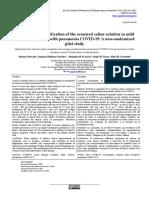 Suero Ozonizado COVID 109 Ultimos Estudios