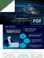 SAP ECC vs S 4 HANA MRP Live