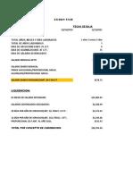 Cedula de Liquidacion y Finiquito