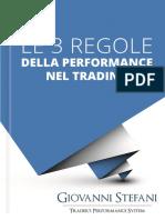 Le 3 Regole Della Performance Nel Trading