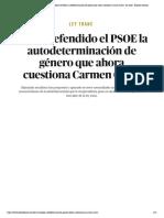 Ley Trans _ Así ha defendido el PSOE la autodeterminación de género que ahora cuestiona Carmen Calvo - El Salto - Edición General