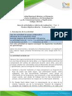 Guía de Actividades y Rúbrica de Evaluación - Fase 6 - Prueba Objetiva Abierta - Evaluación Final