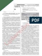 D.S. N°001 - 2021 - TR modifica Rgto.ley de seguridad en el trabajo