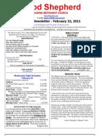 Newsletter Feb 22nd
