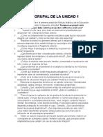ACTIVIDAD GRUPAL DE LA UNIDAD 1 EDUCACIÓN INICIAL