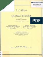 Caillieret - Quinze etudes segun sonatas violin solo Bach