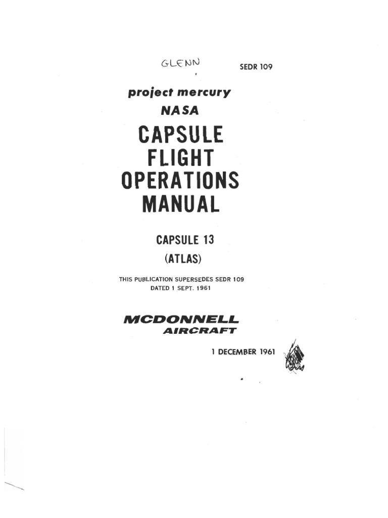 MA6 Capsule Flight Operations Manual