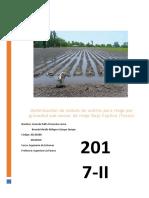Optimización de cédula de cultivo para riego por gravedad sub-sector de riego Bajo Caplina (Tacna)