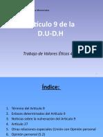 Declaración Universal De Los Derechos Humanos Trabajo de Valores éticos 1