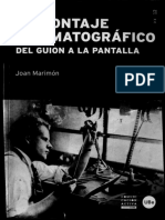 Marimon, Joan - El montaje cinematoghrafico