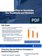 Seattle plan to vaccinate residents and workers