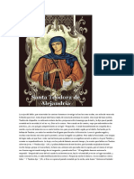 La Vida de Santa Teodora de Alejandria.