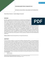 A INCLUSÃO NAS AULAS DE EDUCACAO FISICA_DESASFIOS OU POSSIBLIDADES