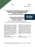 Artigo_versão Final- Atuação Do Psicopedagogo Em Situação de Distanciamento Social - Documentos Google