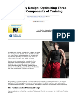 Success by Design, Optimizing Three Critical Components of Training