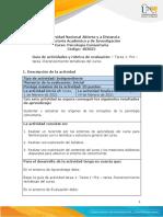 Guía de actividades y rúbrica de evaluación - Unidad 1 - Tarea 1- Reconocimiento